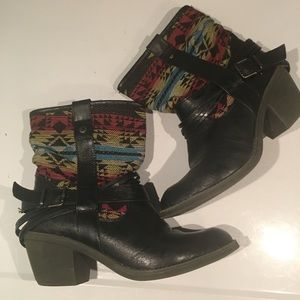 AWESOME BOHO LIMELIGHT ANKLE BOOTS SIZE 8